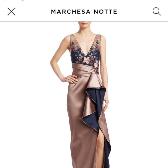 Marchesa Dresses   Notte Evening Gown   Poshmark